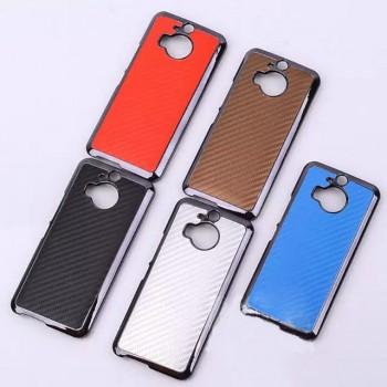 Дизайнерский поликарбонатный чехол с текстурным покрытием Карбон для HTC One M9+
