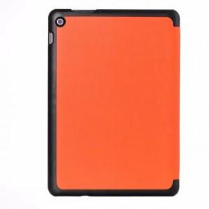 Чехол флип подставка сегментарный на поликарбонатной основе для ASUS ZenPad 10 Оранжевый