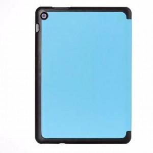 Чехол флип подставка сегментарный на поликарбонатной основе для ASUS ZenPad 10 Голубой