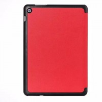 Чехол флип подставка сегментарный на поликарбонатной основе для ASUS ZenPad 10 Красный