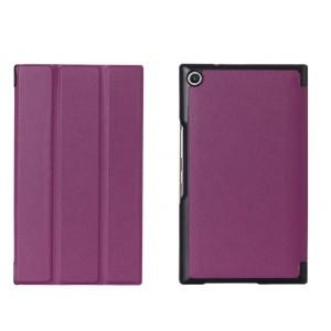 Чехол флип подставка сегментарный на поликарбонатной основе для ASUS ZenPad S 8 Фиолетовый