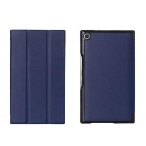 Чехол флип подставка сегментарный на поликарбонатной основе для ASUS ZenPad S 8 Синий