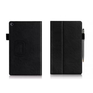 Чехол подставка с внутренними отсеками серия Full Cover для ASUS ZenPad 8 Черный