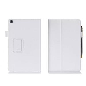Чехол подставка с внутренними отсеками серия Full Cover для ASUS ZenPad 8 Белый