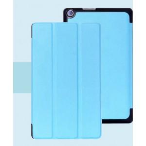Чехол флип подставка сегментарный на поликарбонатной основе для ASUS ZenPad 8 Голубой