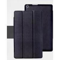 Чехол флип подставка сегментарный на поликарбонатной основе для ASUS ZenPad 8 Черный
