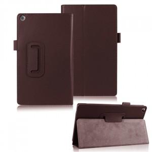 Чехол подставка с рамочной защитой для ASUS ZenPad 8 Коричневый