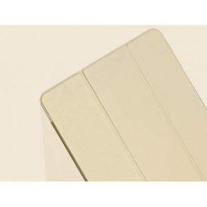 Чехол смарт флип подставка сегментарный на поликарбонатной основе для Samsung Galaxy Tab S 10.5 Бежевый