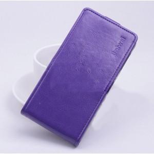 Чехол вертикальная книжка на силиконовой основе с магнитной застежкой для ASUS Zenfone Selfie Фиолетовый