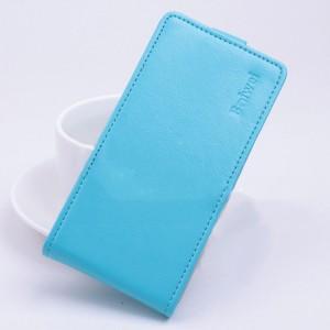 Чехол вертикальная книжка на силиконовой основе с магнитной застежкой для ASUS Zenfone Selfie Синий