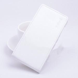 Чехол вертикальная книжка на силиконовой основе с магнитной застежкой для ASUS Zenfone Selfie Белый