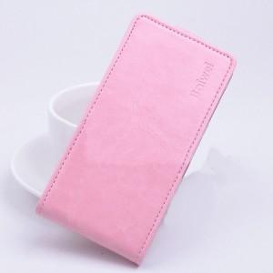 Чехол вертикальная книжка на силиконовой основе с магнитной застежкой для ASUS Zenfone Selfie Розовый
