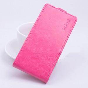 Чехол вертикальная книжка на силиконовой основе с магнитной застежкой для ASUS Zenfone Selfie Пурпурный