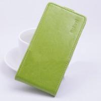 Чехол вертикальная книжка на силиконовой основе с магнитной застежкой для ASUS Zenfone Selfie Зеленый