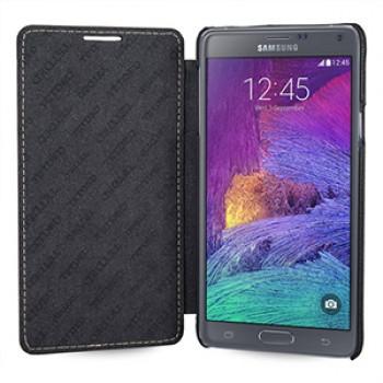 Кожаный чехол горизонтальная книжка (нат. кожа) для Samsung Galaxy Note 4