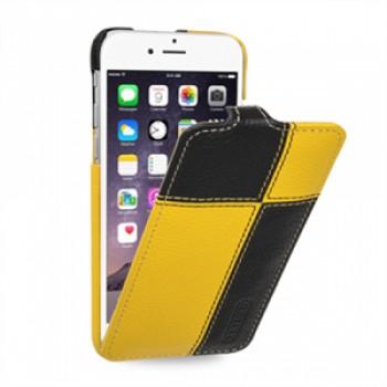 Кожаный чехол вертикальная книжка (нат. кожа двух видов ручного пошива) для Iphone 6