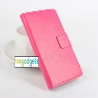 Чехол портмоне подставка глянцевой текстуры с магнитной защелкой для ASUS Zenfone Selfie Розовый