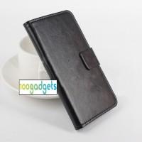 Чехол портмоне подставка глянцевой текстуры с магнитной защелкой для ASUS Zenfone Selfie Черный
