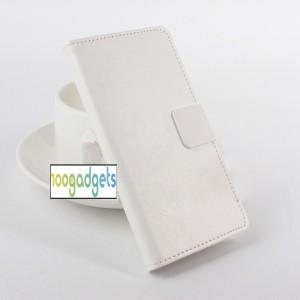 Чехол портмоне подставка глянцевой текстуры с магнитной защелкой для ASUS Zenfone Selfie Белый
