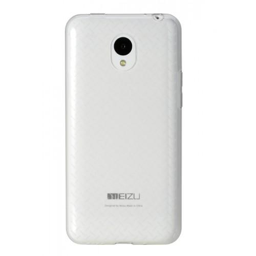 Ультратонкий силиконовый дизайнерский матовый полупрозрачный чехол для Meizu M1