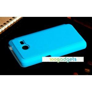 Чехол флип для Samsung Galaxy Core 2 Голубой