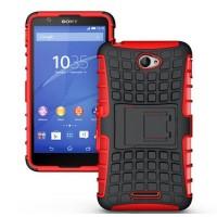 Антиударный пластиковый чехол экстрим защита с подставкой для Sony Xperia E4 Красный