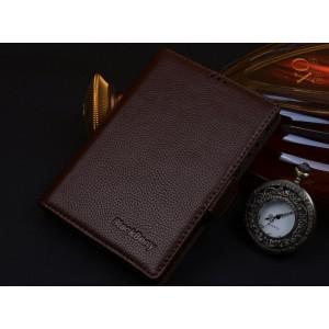 Кожаный чехол портмоне (нат. кожа) для BlackBerry Passport Silver Edition