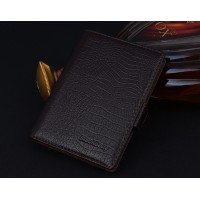 Кожаный чехол портмоне (нат. кожа крокодила) для BlackBerry Passport Silver Edition Коричневый