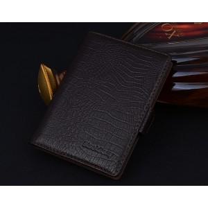 Кожаный чехол портмоне (нат. кожа крокодила) для BlackBerry Passport Silver Edition