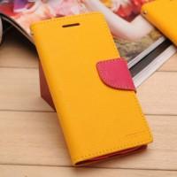 Чехол портмоне на силиконовой основе с крепежной застежкой для Sony Xperia E4 Желтый