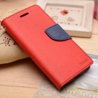 Чехол портмоне на силиконовой основе с крепежной застежкой для Sony Xperia E4 Красный