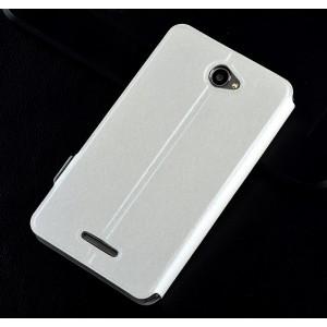 Текстурный чехол флип подставка с магнитной застежкой для Sony Xperia E4