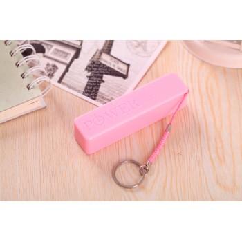 Ультракомпактное устройство-брелок для сохранения заряда гаджета 600 mAh Розовый