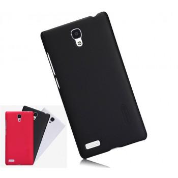 Пластиковый матовый нескользящий премиум чехол для Xiaomi RedMi Note
