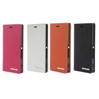Кожаный чехол горизонтальная книжка с отделением для карт для Sony Xperia M2 Aqua