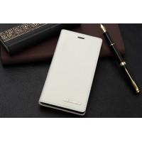 Кожаный чехол горизонтальная книжка с отделением для карт для Sony Xperia M2 Aqua Белый