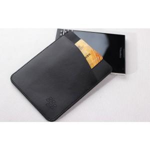 Кожаный мешок с отделением для карт для BlackBerry Passport Silver Edition
