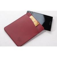 Кожаный мешок с отделением для карт для BlackBerry Passport Silver Edition Красный