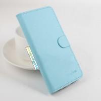 Чехол портмоне подставка на силиконовой основе с крепежной застежкой для ASUS Zenfone Selfie Синий