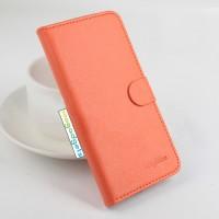 Чехол портмоне подставка на силиконовой основе с крепежной застежкой для ASUS Zenfone Selfie Оранжевый