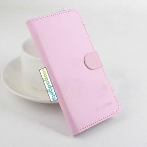 Чехол портмоне подставка на силиконовой основе с крепежной застежкой для ASUS Zenfone Selfie Розовый