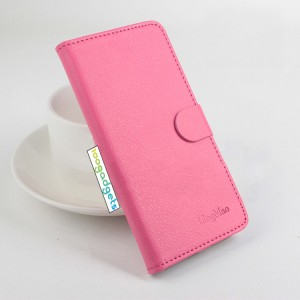 Чехол портмоне подставка на силиконовой основе с крепежной застежкой для ASUS Zenfone Selfie Пурпурный