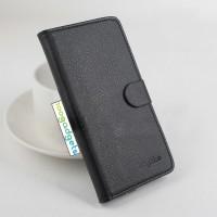 Чехол портмоне подставка на силиконовой основе с крепежной застежкой для ASUS Zenfone Selfie Черный