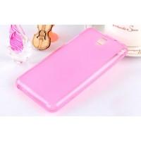 Силиконовый полупрозрачный чехол для HTC Desire 610 Розовый