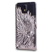 Объемная поликарбонатная накладка Ангел для Samsung Galaxy Note 3 Бежевый