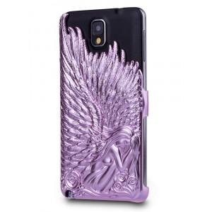 Объемная поликарбонатная накладка Ангел для Samsung Galaxy Note 3 Розовый