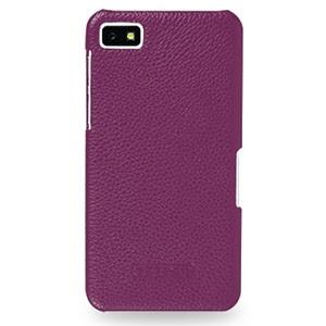 Кожаный чехол накладка (нат. кожа) серия Back Cover для BlackBerry Z10