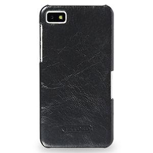 Кожаный чехол накладка (цельная телячья нат. вощеная кожа) серия для BlackBerry Z10