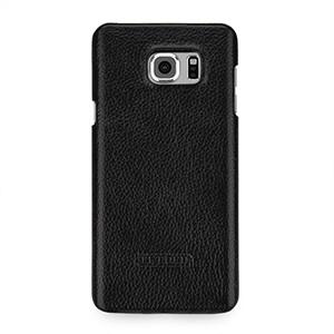 Кожаный чехол накладка (нат. кожа) серия для Samsung Galaxy Note 5 Черный