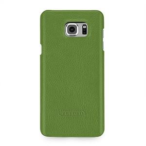 Кожаный чехол накладка (нат. кожа) серия для Samsung Galaxy Note 5 Зеленый